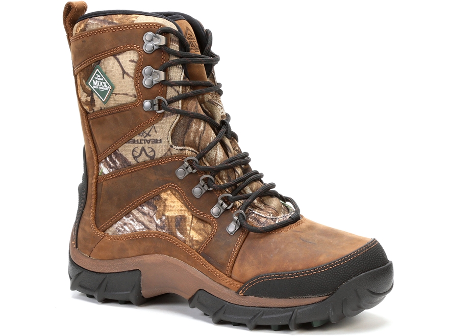 """Muck Peak Essential 9"""" Insulated Hiking Boots Leather and Nylon Realtree Xtra Camo Men'..."""