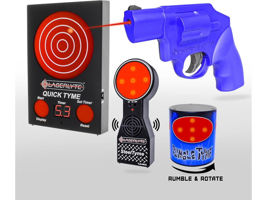 LaserLyte Shooting Gallery Kit with Quick Tyme Target, Steel Tyme Targets, Rumble Tyme ...