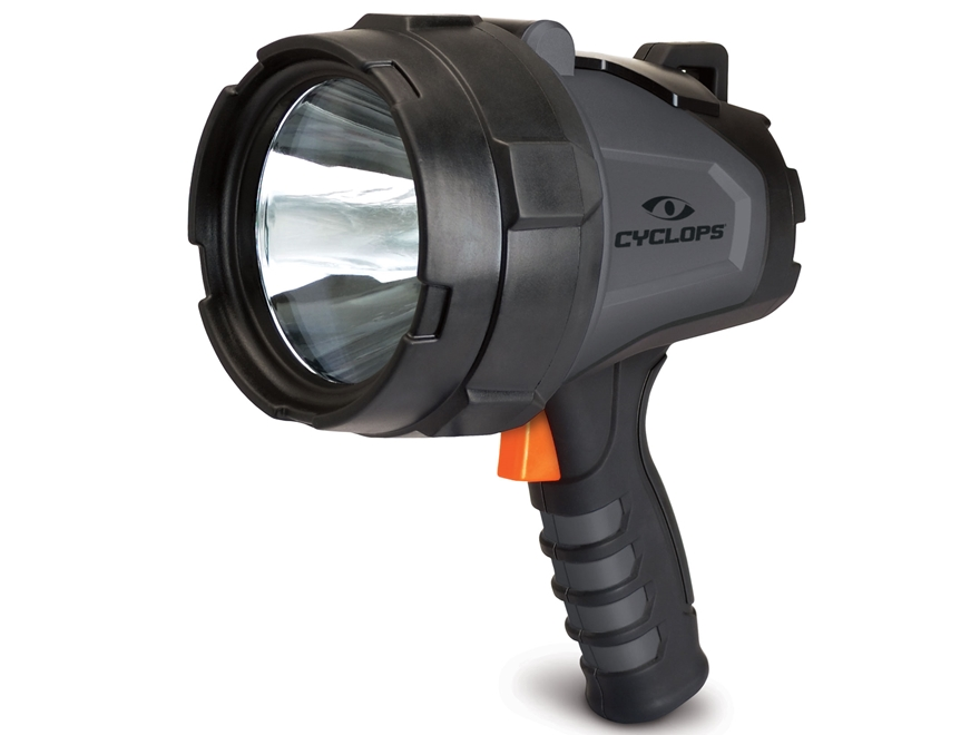 Cyclops 580 Lumen Handheld Spotlight LED with Rechargeable Battery Polymer Gray