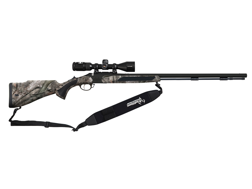 "Traditions Drury Outdoors Vortek Strikerfire Muzzleloading Rifle 50 Caliber 28"" Nitride..."