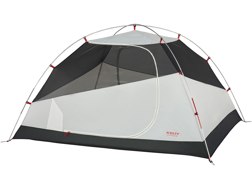 "Kelty Gunnison 3 Person Dome Tent with Footprint 89"" x 74"" x 49"" Polyester Gray"