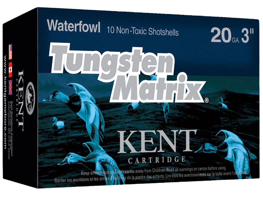 "Kent Cartridge Tungsten Matrix Waterfowl Ammunition 20 Gauge 3"" 1-1/8 oz #3 Tungsten No..."