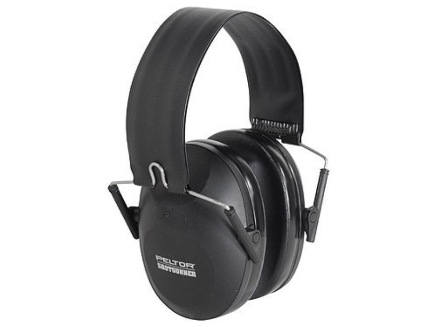 Peltor ShotGunner Folding Earmuffs (NRR 21dB) Black