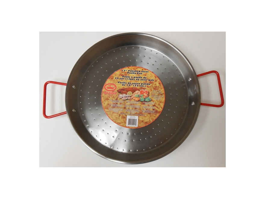 "King Kooker 13"" Steel Paella Pan"