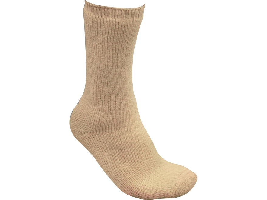 Military Surplus Boot Socks Wool Blend Ivory 2 Pair