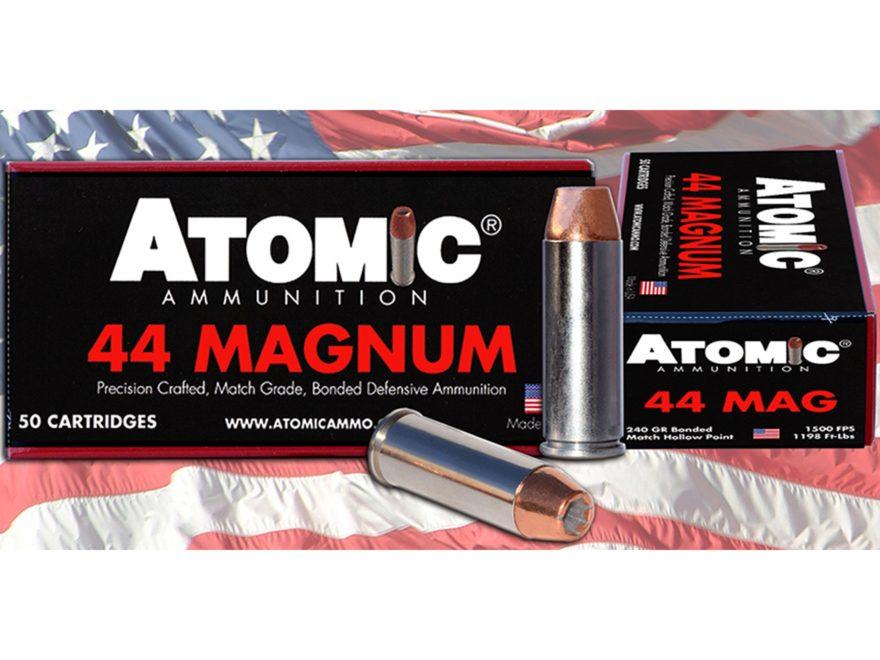 Atomic Ammunition 44 Remington Magnum 240 Grain Bonded Match Hollow Point Box of 50
