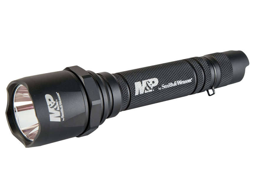 Smith & Wesson Delta Force MS-10 Flashlight LED with 3 CR123A Batteries Aluminum Black