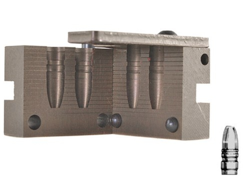 Saeco 2-Cavity Bullet Mold #352 35 Caliber (358 Diameter) 245 Grain Flat Nose Gas Check