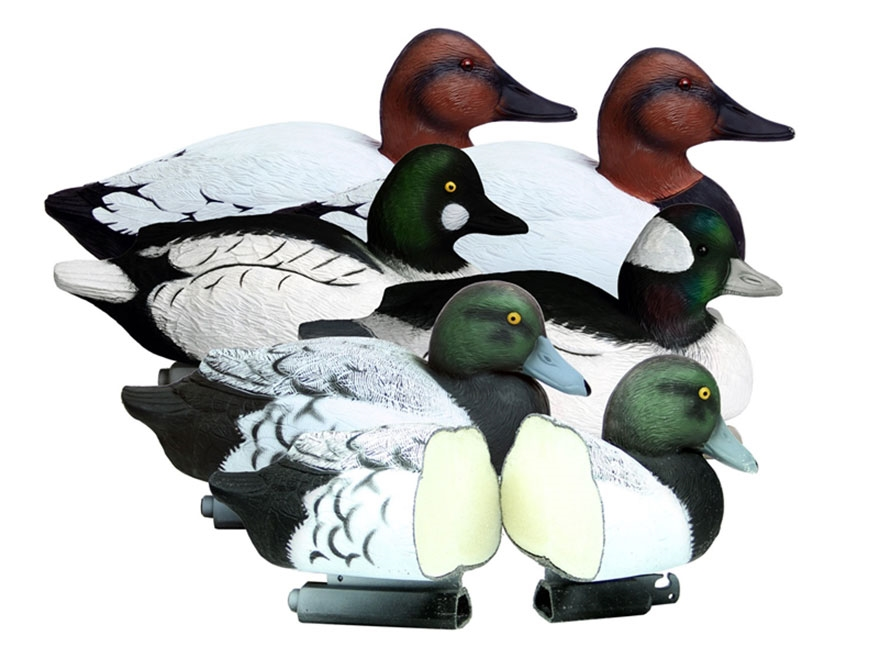 Higdon Battleship Diver Pack Foam Filled Duck Decoy Combo Polymer Pack of 6