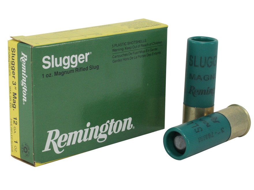 "Remington Slugger Ammunition 12 Gauge 3"" 1 oz Rifled Slug Box of 5"