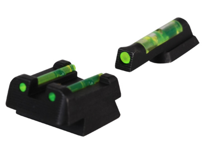 HIVIZ Sight Set CZ 75, 83, 85, 97, P-01 Steel Fiber Optic Green