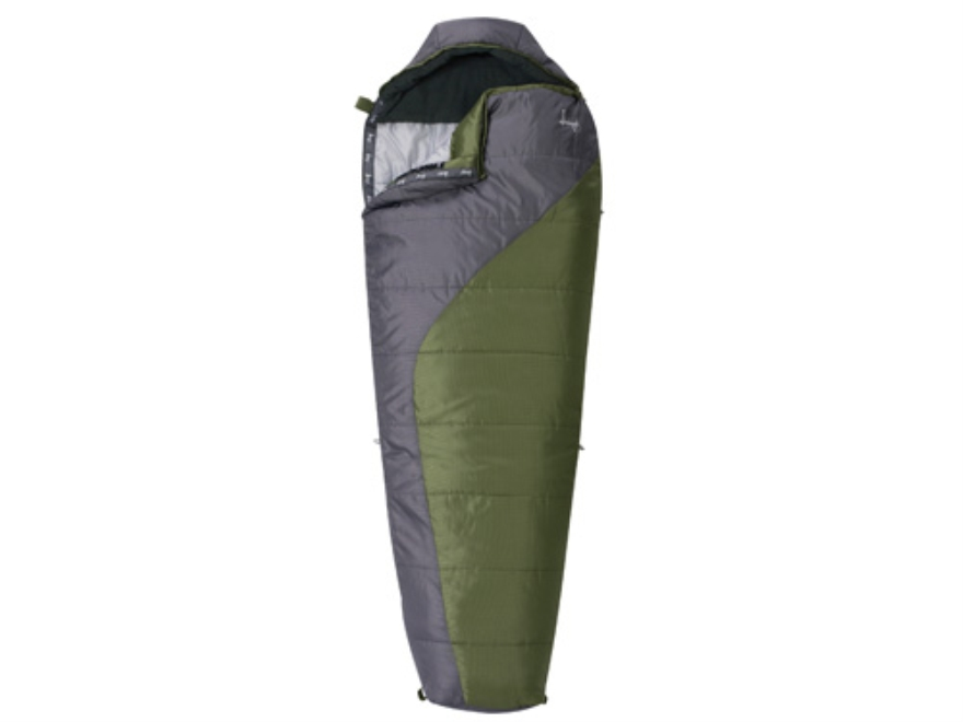 "Slumberjack Lone Pine 20 Degree Mummy Sleeping Bag 31"" x 80"" Polyester OD and Gray"