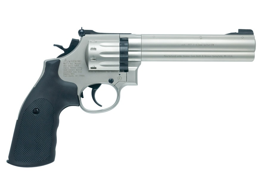 "Smith & Wesson 686 Air Pistol 6"" Barrel 177 Caliber Pellet Nickel"