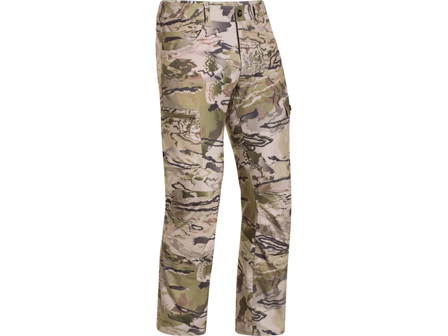 "Under Armour Men's UA Ridge Reaper 03 Pants Polyester Ridge Reaper Barren Camo 42"" Wais..."