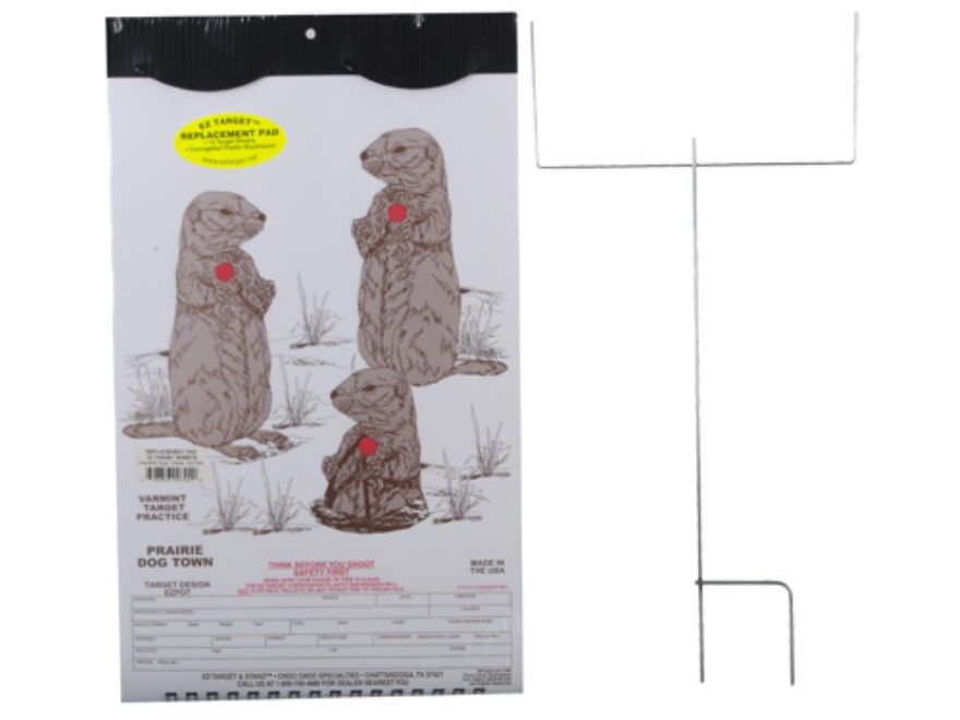 "EZ Target Prairie Dog Town Master Pack Target 11"" x 17"" Paper Package of 15 with Stand ..."