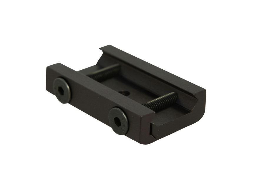 GrovTec Picatinny Rail Mounted Bipod Adapter Aluminum Black