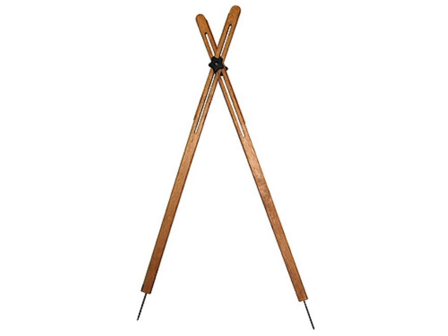 "Cat's Shooting Sticks Buffalo Cross Sticks Sitting/Kneeling Model 48"" Solid Oak"