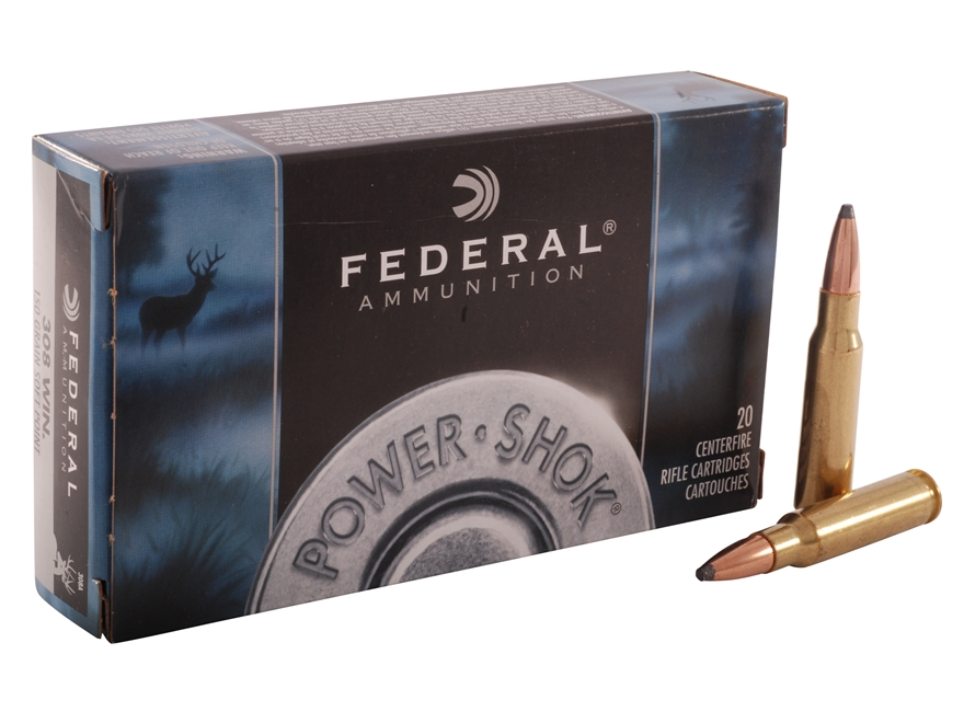 Federal Power-Shok Ammunition 308 Winchester 150 Grain Soft Point