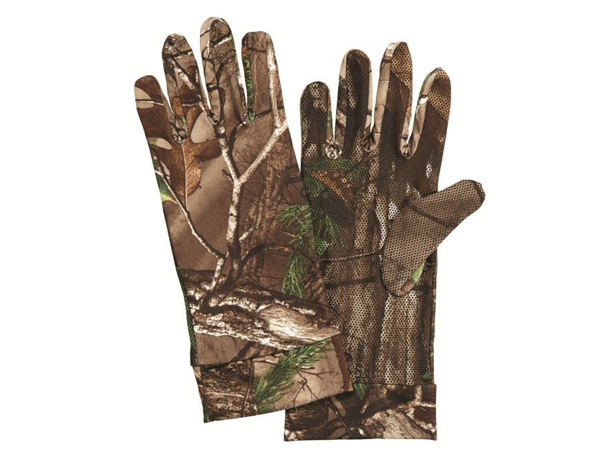 Hunter's Specialties Bite Grip Spandex Gloves Polyester Realtree Xtra Green Camo