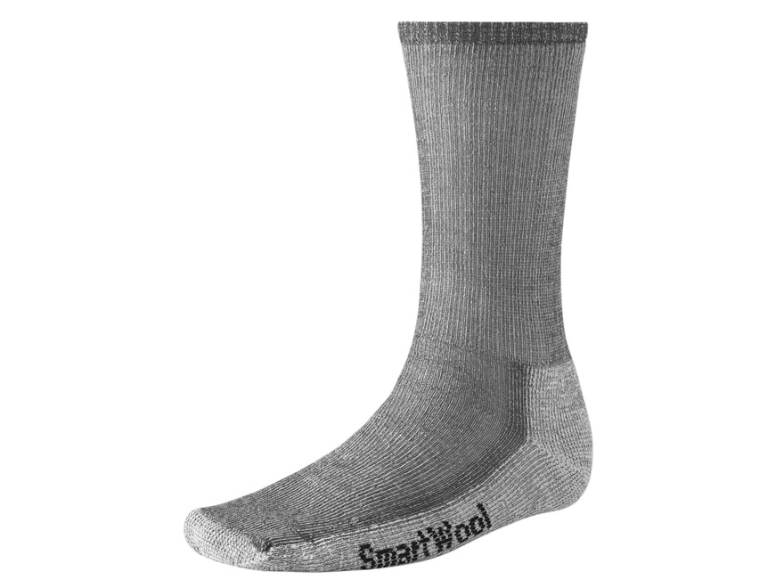Smartwool Men's Hike Medium Crew Socks Wool Blend Gray Large (9-11.5) 1 Pair