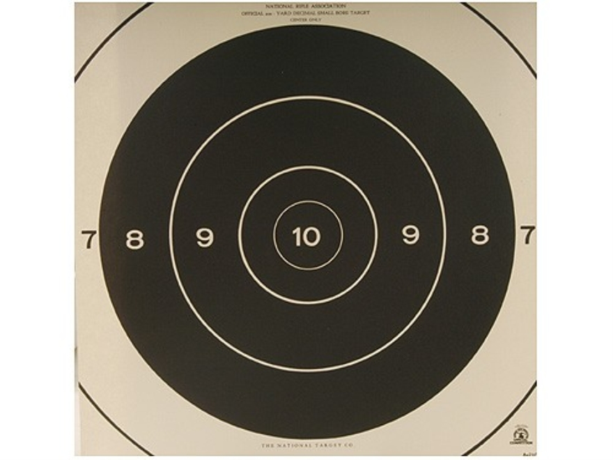 NRA Official Smallbore Rifle Targets Repair Center A-21C 200 Yard Prone Paper Pack of 100