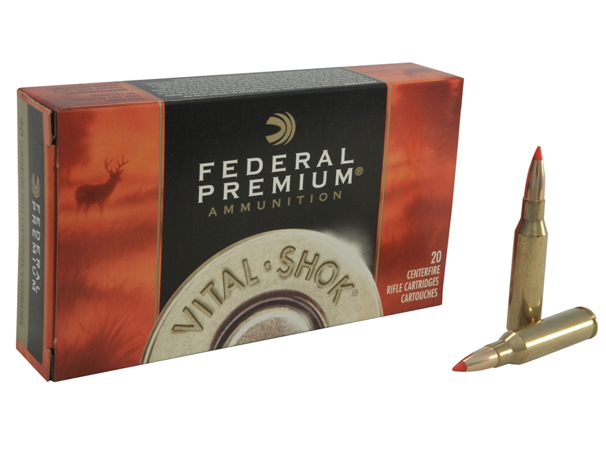 Federal Premium Vital-Shok Ammunition 7mm-08 Remington 140 Grain Nosler Ballistic Tip B...