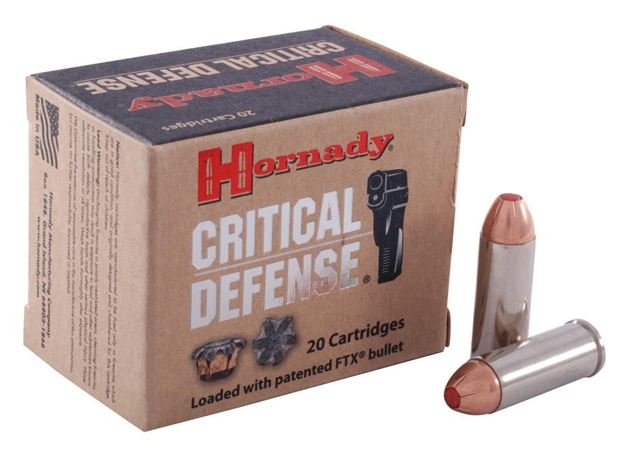 Hornady Critical Defense Ammunition 45 Colt (Long Colt) 185 Grain Flex Tip eXpanding Bo...