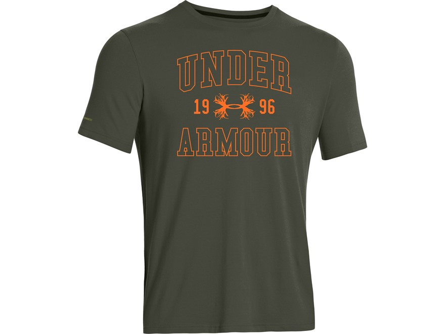 Under Armour Men's Branded Collegiate T-Shirt Short Sleeve Cotton and Polyester Blend