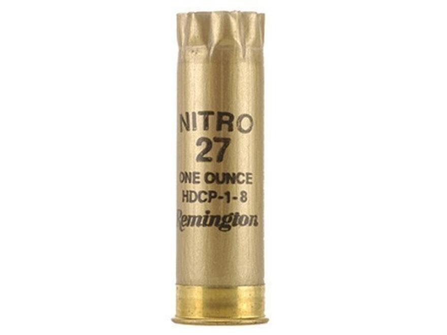 """Once-Fired Remington Shotshell Hulls 12 Gauge 2-3/4"""" STS 8 Point Crimp Gold Bag of 100"""
