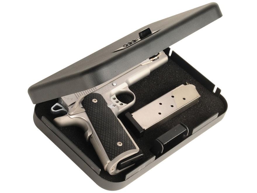 "Secure-It Combination Lock Long Hinge Large Pistol Security Box 9-1/2"" x 6-1/2"" x 1-3/4..."
