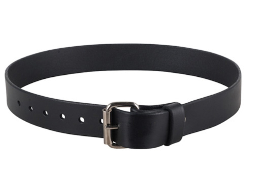 "Lenwood Leather GP Belt 1-3/4"" Steel Buckle Leather Black 32"""