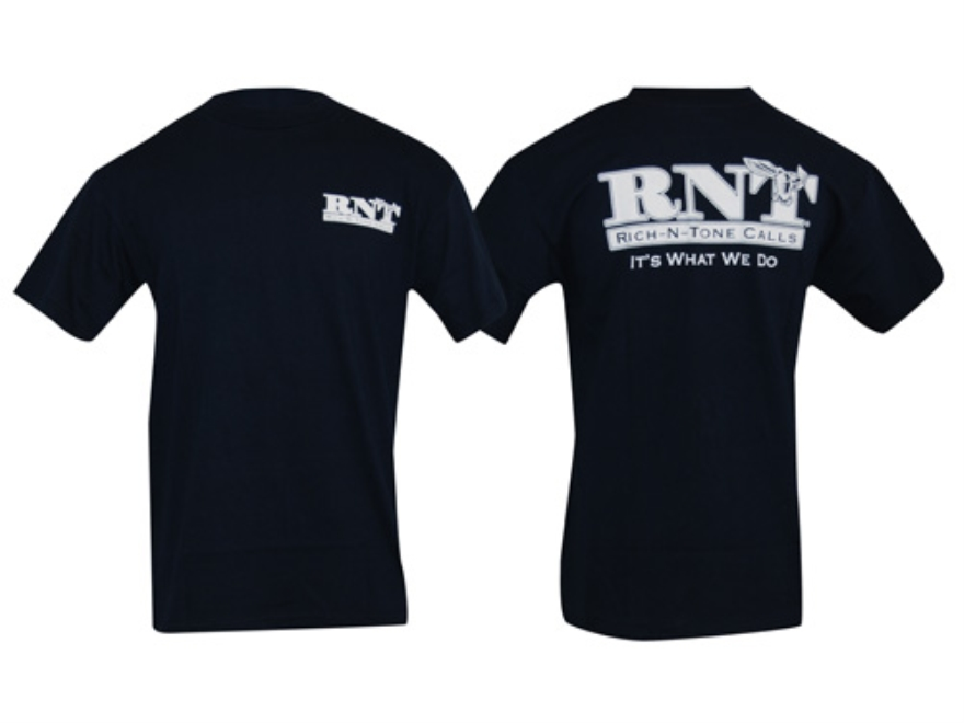 RNT Men's Logo T-Shirt Short Sleeve Cotton Navy Large