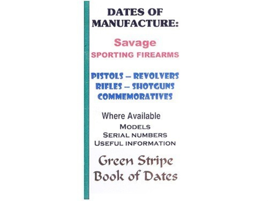 "Green Stripe Data Books ""Savage"" Book by Firing Pin Enterprises"