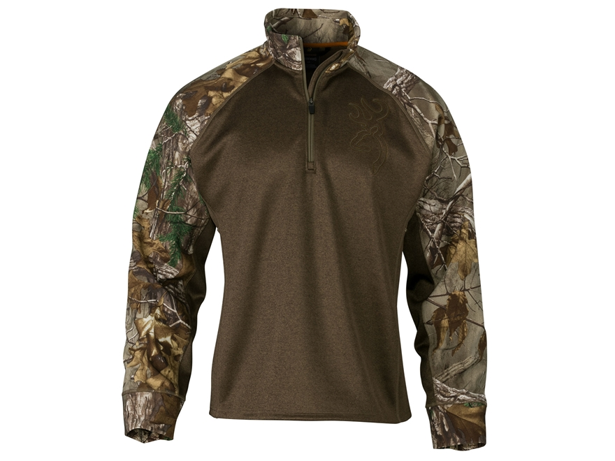 Browning Men's Hell's Canyon Bellum Scent Control 1/4 Zip Shirt Long Sleeve Polyester