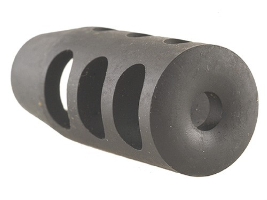 """Holland's Quick Discharge Muzzle Brake 5/8""""-28 Thread .650""""-.750"""" Barrel Tapered Chrome..."""