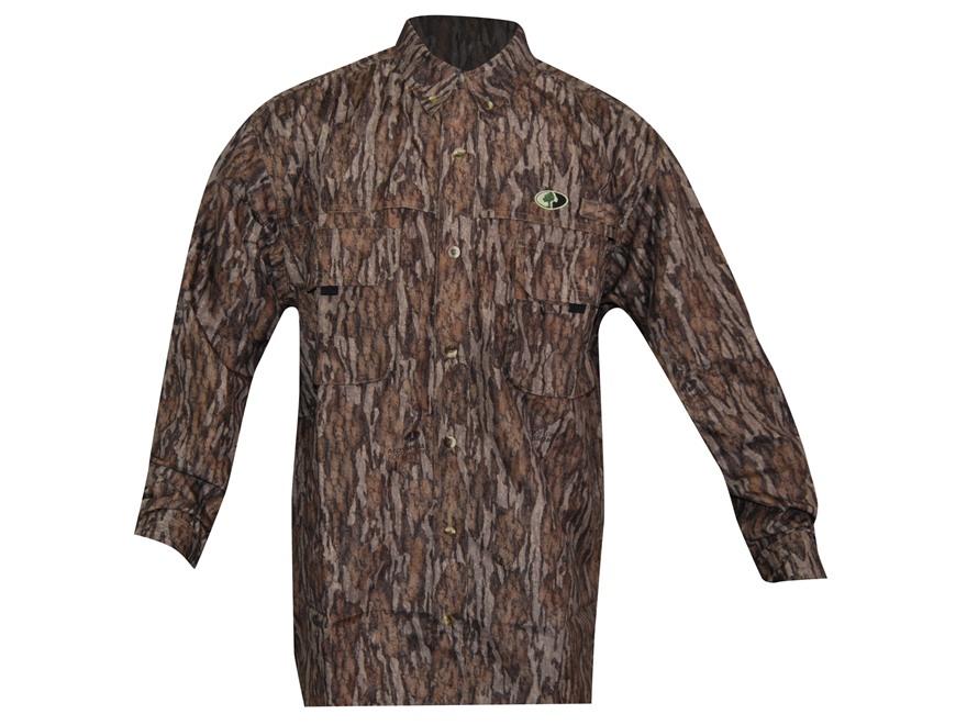Russell Outdoors Men's Treklite Shirt Long Sleeve Polyester Mossy Oak New Bottomland Ca...