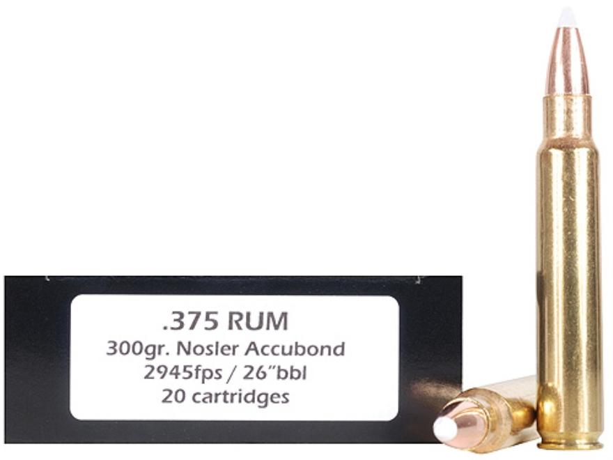 Doubletap Ammunition 375 Remington Ultra Magnum 300 Grain Nosler AccuBond Spitzer Box o...