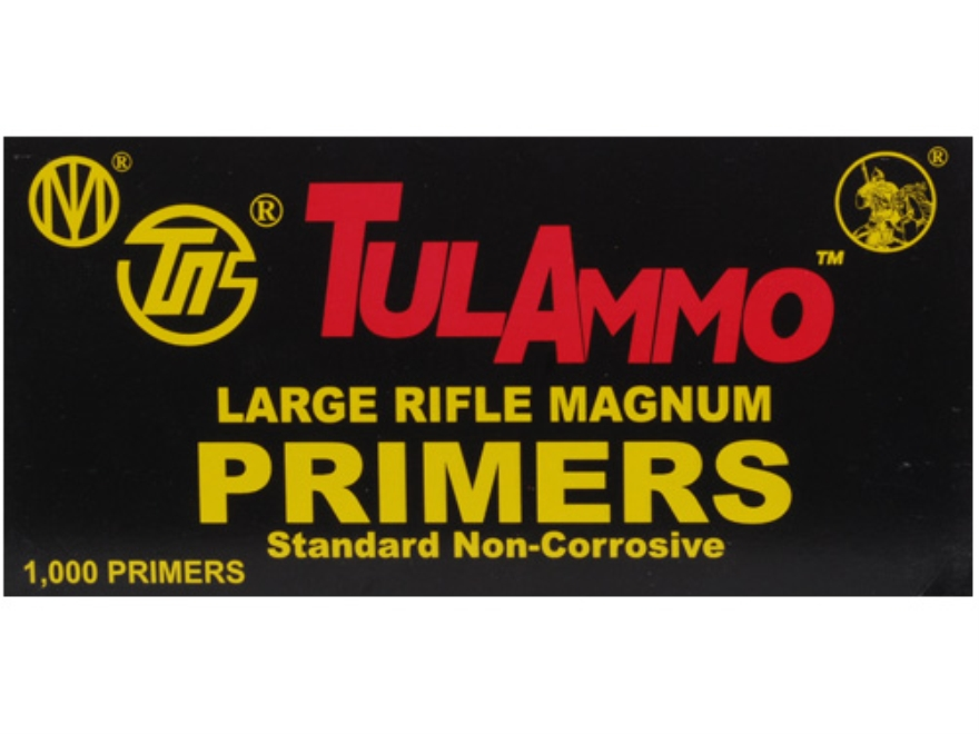 TulAmmo Large Rifle Magnum Primers Case of 5000 (5 Boxes of 1000)