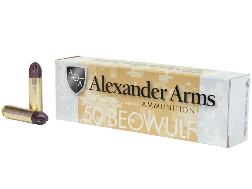 Alexander Arms Ammunition 50 Beowulf 200 Grain Frangible PolyCase Inceptor ARX Box of 20