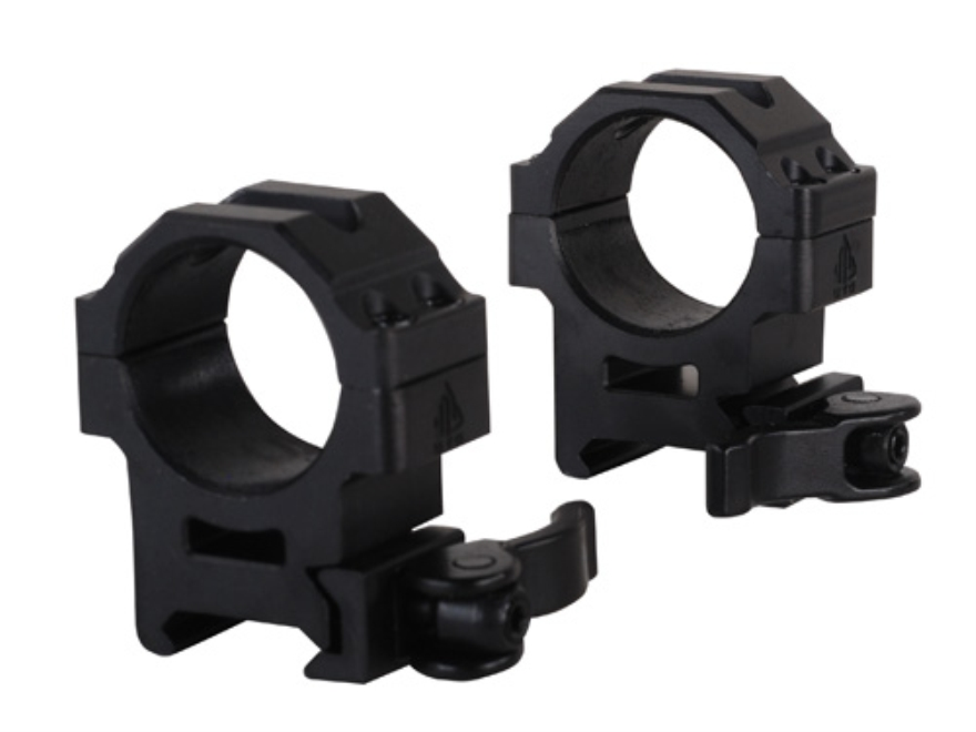 Leapers UTG 30mm Max Strength Tactical 4-Hole Quick Detachable Picatinny-Style Rings Matte