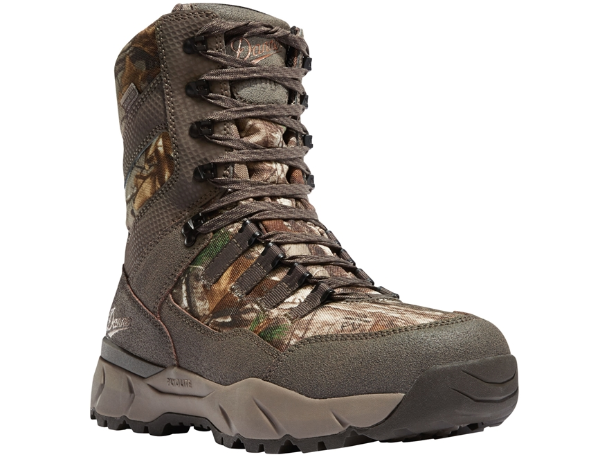 """Danner Vital 8"""" 800 Gram Insulated Waterproof Hunting Boots Leather/Nylon"""