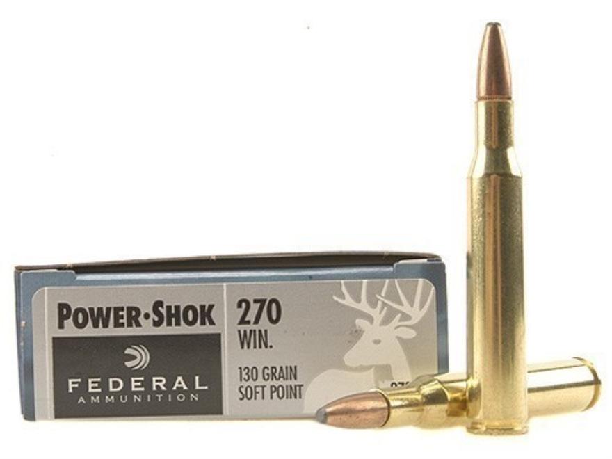 Federal Power-Shok Ammunition 270 Winchester 130 Grain Soft Point