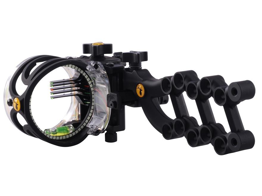 "Trophy Ridge React 5-Pin Bow Sight .019"" Pin Diameter Right Hand Polymer Black"