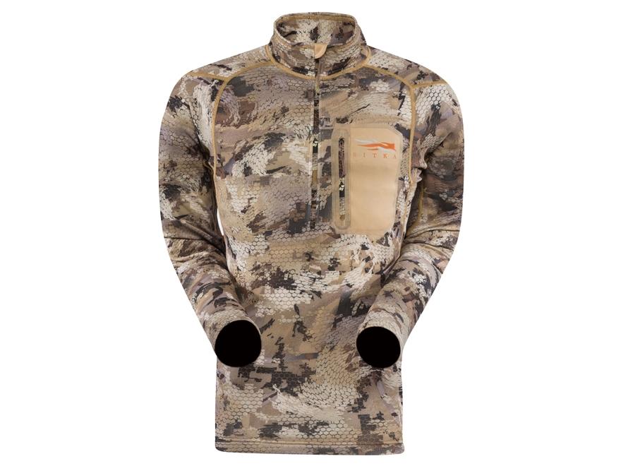 Sitka Gear Men's Core Midweight Zip Shirt Long Sleeve Polyester