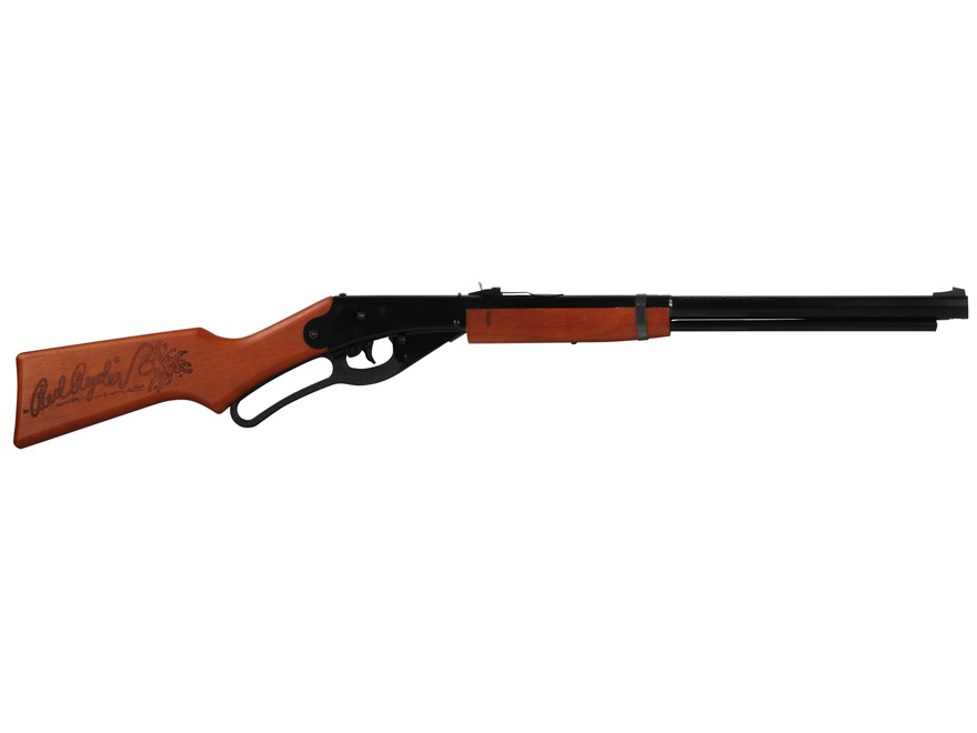 Daisy Red Ryder BB Youth Lever Action Air Rifle 177 Caliber BB Wood Stock Blue Barrel