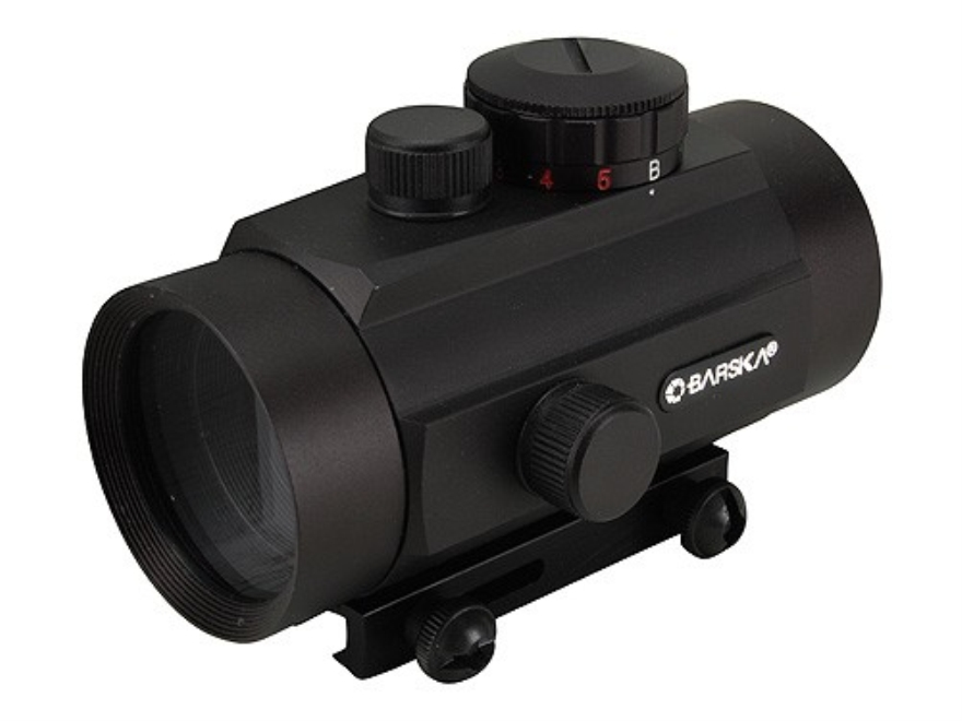 Barska Red Dot Sight 40mm Tube 1x 5 MOA Red and Green Dot with Integral Weaver-Style Mo...