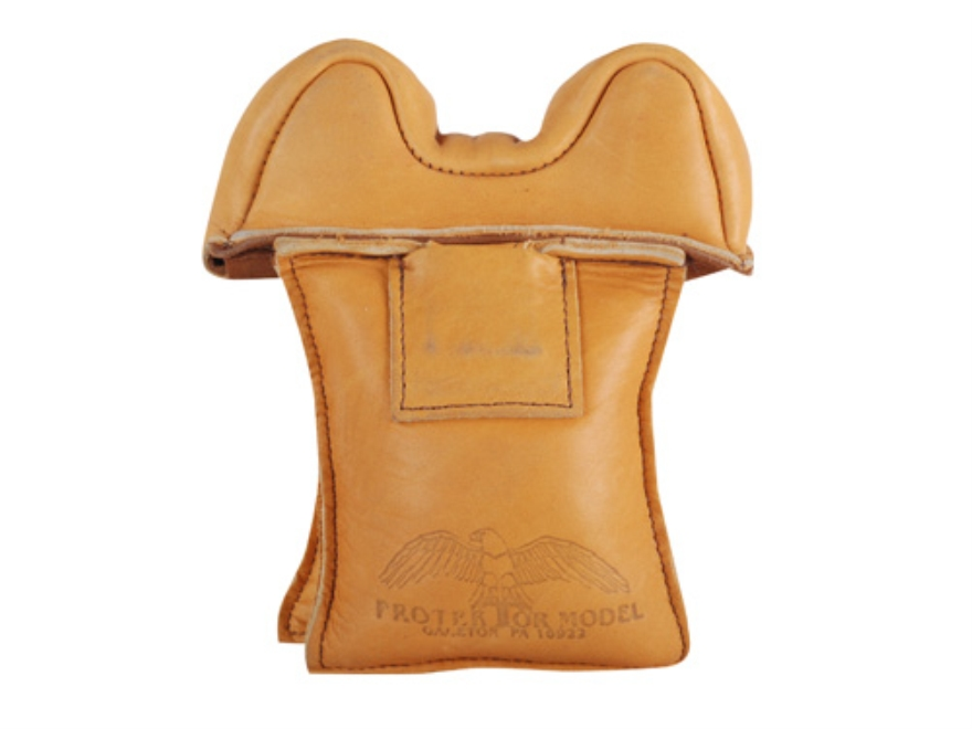 Protektor Small Owl Ear Straddle Shooting Rest Bag Leather Tan Filled