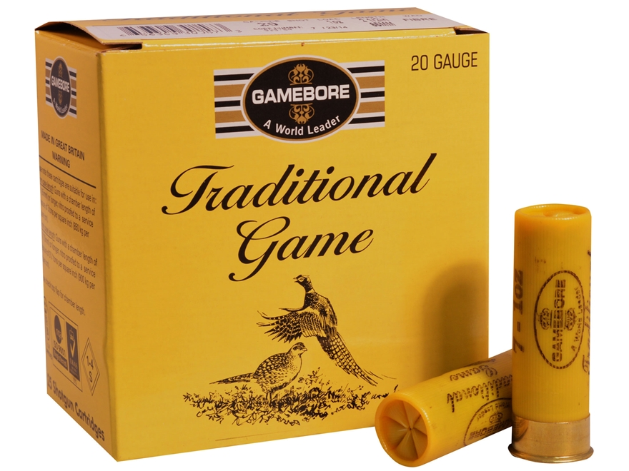 "Kent Cartridge Gamebore Game and Hunting Ammunition 20 Gauge 2-1/2"" 1 oz #6 Shot"