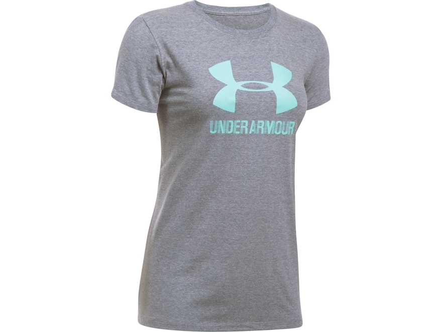 Under Armour Women's UA Sportstyle Crew T-Shirt Short Sleeve Charged Cotton