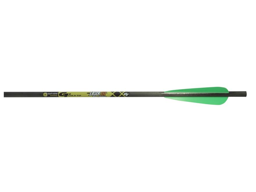 "Gold Tip Laser III Pro Series 22"" Carbon Crossbow Bolt 4"" Vanes Black Pack of 6"